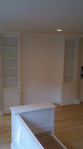 Bookcases, FSC certified material for LEED Project.