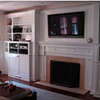 Built-in wall-unit, entertainment center and fire surround. 