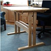 Side View Maple Kidney Shaped Table