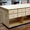 Cabinet built-in for retail space.