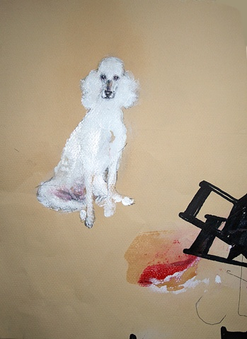 dog, drawing, absurd, surreal, detailed