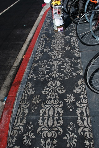 Valencia Street Posts (Etched pavement detail)