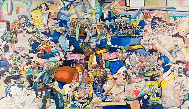 "Keith Sklar artist ""Figure study"" from ""DIY"" series of art paintings, oil paint on canvas"