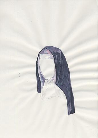 Nun (Tia Giles as Goth Nun)