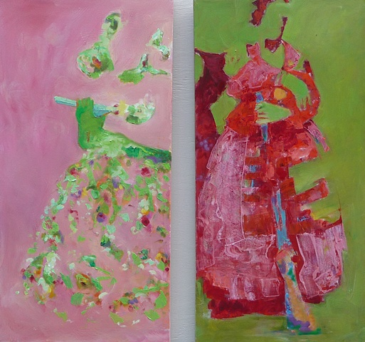 mis abuelitas rosa verde