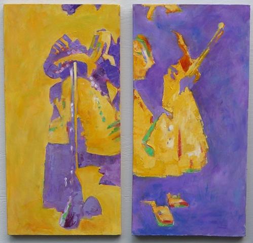 Mis Abuelitas Amarillo Viola