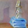 Balance III or Napoletan Cards on Blue Towel