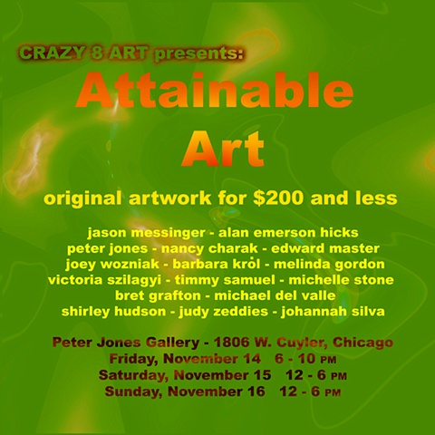ATTAINABLE ART 2008 Postcard