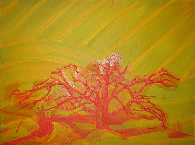Fall Oak Underpainting 4