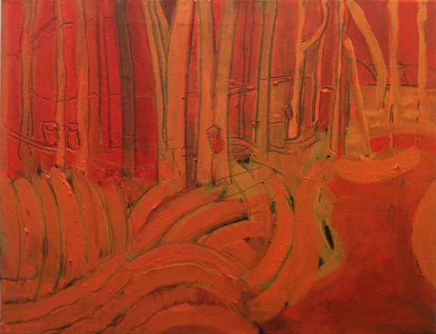 Spring Woods Underpainting