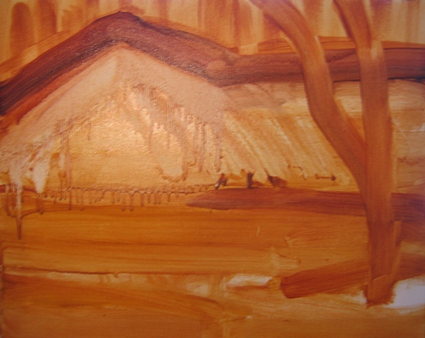 Hill 2 Underpainting