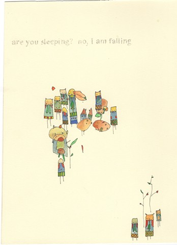 Are you sleeping? No I am falling. davidruhlman david ruhlman handmade book