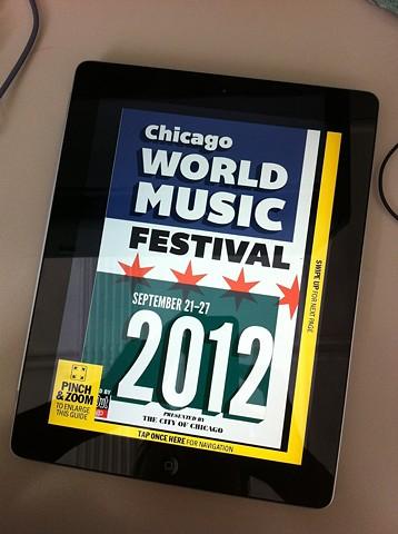 iPad edition of World Music Festival guide