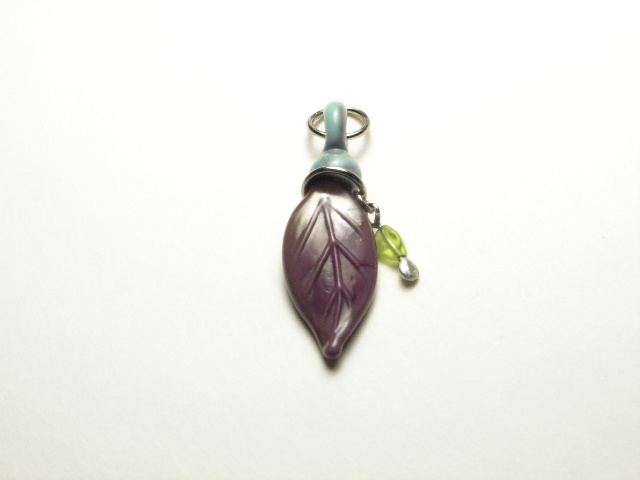 Heather Purple with Lime Green Pendant