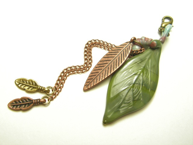 Olive Leaf with Metal Feathers