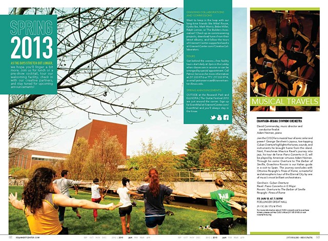 Krannert Center Season Brochure Spring Season Spread