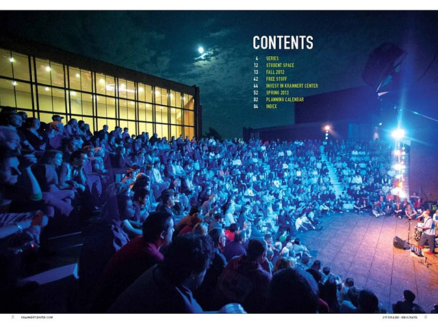 Krannert Center Season Brochure 2012-2013 (Content Page)