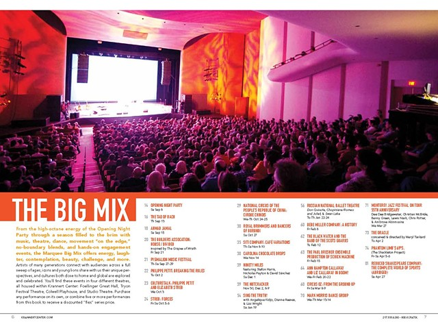 "Krannert Center Season Brochure ""The Big Mix"" Opening Spread"