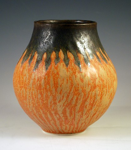 Medium Burnt Orange Vase