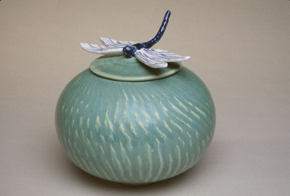Small Jar with Dragon Fly