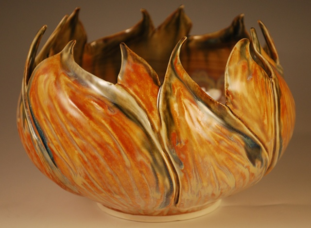 Carved Leaf Bowl