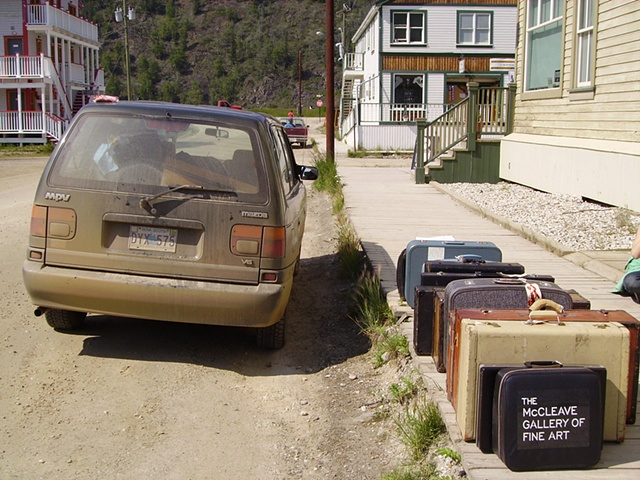 Suitcase arrives in Dawson City