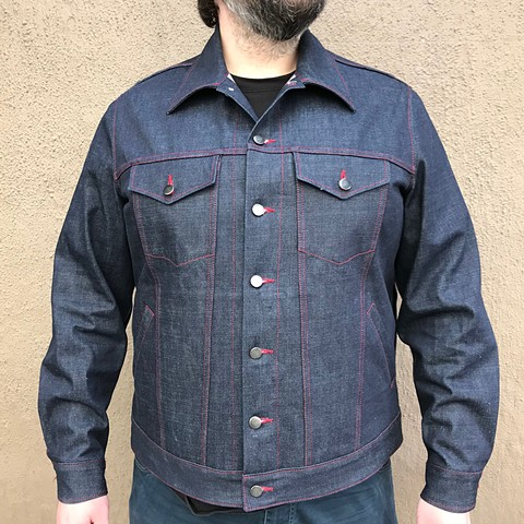 Denim Messenger Jacket