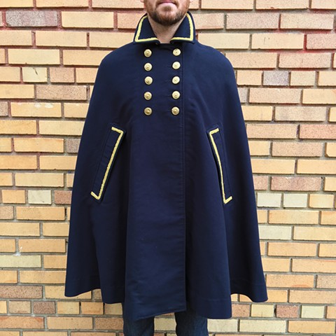 Military Inspired Double Breasted Cape