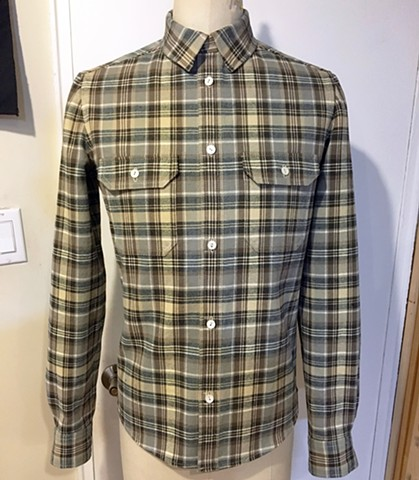 Custom Grey Plaid Shirt