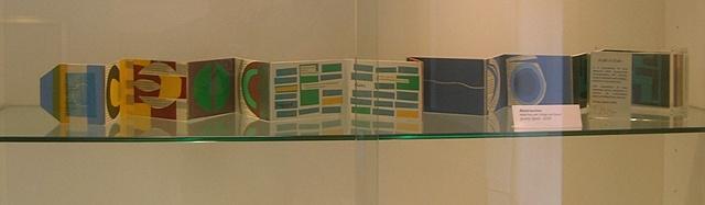 Abstraction: concertina box print at the Thelma Hulbert Gallery