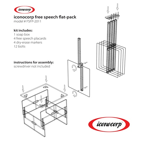 Free Speech Flat Pack Instructions for Assembly