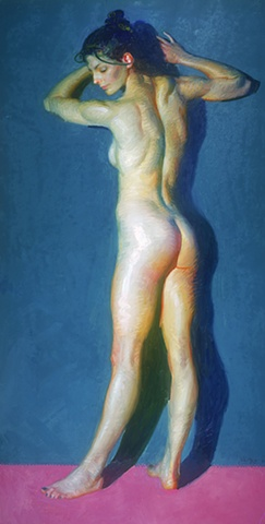 "Title: Endowed  Medium: Oil on canvas  Dimensions: 74"" x 38""  Year: 2007"