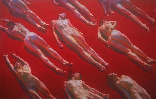 "Title: Awakening  Medium: Oil on canvas  Dimensions: 80"" x 126""  Year: 2006"
