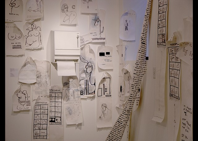 """""""I know a director living out in L.A. who owes me a few favors."""" (Installation view)"""