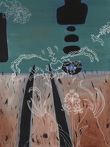 Flood: Field Stubble/Wet Wallpaper