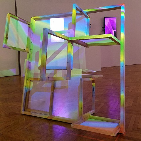 Truss with Pixel Kiss projection by Benton C Bainbridge