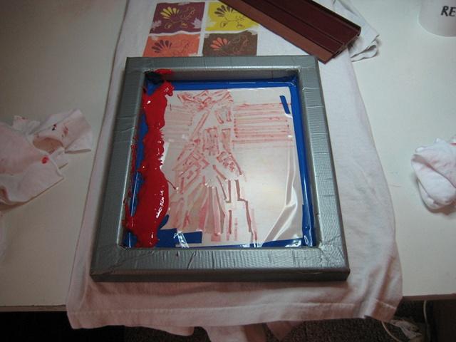 Silkscreen with stencil