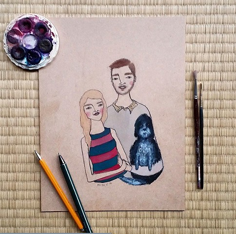 Another cute family portrait for an Australian couple.