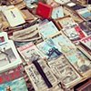 Antique book stall at Ueno markets. I want them all!