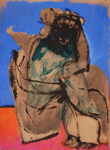 drawing of woman abstract by artist Lori Markman