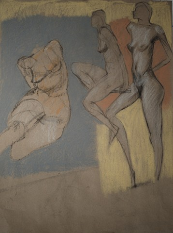 life drawing nude female figure study by artist Lori Markman