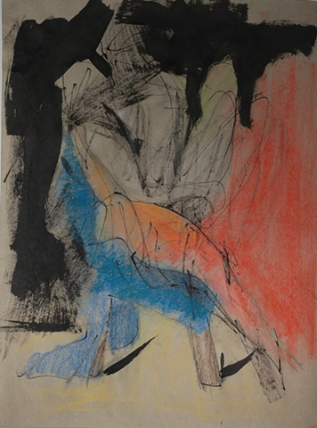 figure drawing of male nude by artist Lori Markman