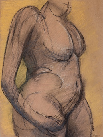drawing of female nude by artist Lori Markman