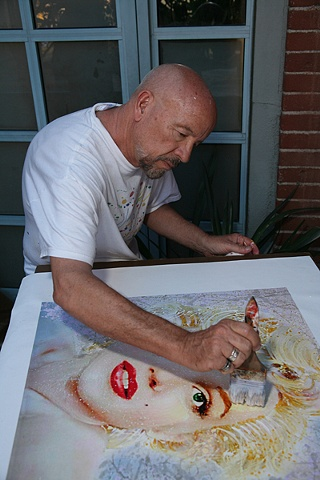 DAVID WILLARDSON_ARTIST AT WORK