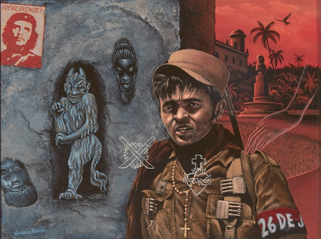 Cuba, George Klauba, painting, Chicago, revolutionaries, Castro, Castro Cuban Revolutionaries, 26 Julio