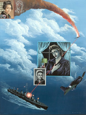 WWII Memorial paintings of Pacific War