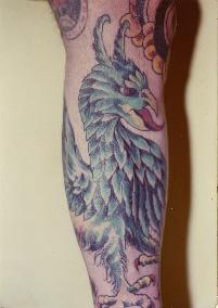 Griffin Leg Tattoo
