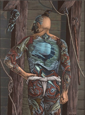 Queequeg With Japanese Tattoos Transformed