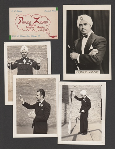 Otto Klauba, George Klauba's father, as Prince Zombi, stage magician