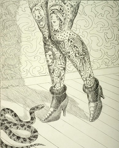 Untitled drawing (tattoo legs)